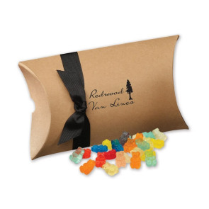 Gummy Bears in Kraft Pillow Pack Box