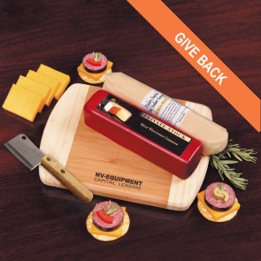 Wisconsin Favorites - Cheese and Summer Sausage with Board