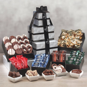 Individually-Wrapped Chocolate Extravaganza Gift Tower