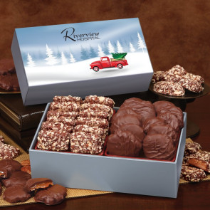 Toffee and Turtles in Gift Box with Red Truck Sleeve