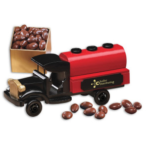 1920-Era Tank Truck with Chocolate Covered Almonds
