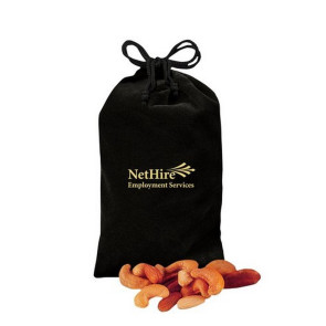 Deluxe Mixed Nuts in Black Velour Gift Bag