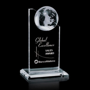 Arden Globe Award - Optical Crystal 6 in.