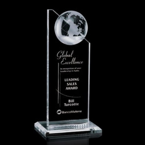 Arden Globe Award - Optical Crystal 8 in.