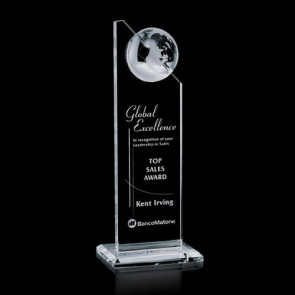 Arden Globe Award - Optical Crystal 10 in.