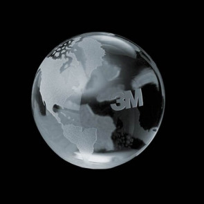 Globe Paperweight - Optical Crystal Award 4 in.