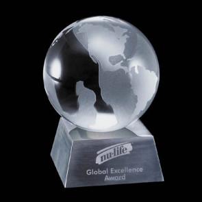 Globe Award on Aluminum Base
