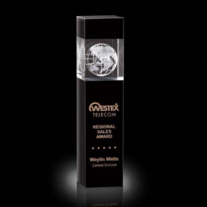 Exeter Globe Award - Optical/Black 9 3/4in.