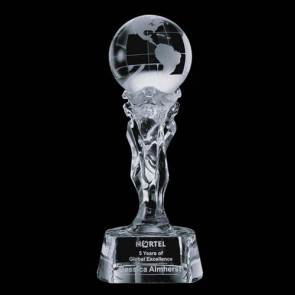 Athena Globe Award - Optical Crytal 12 in.