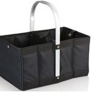 'Urban Basket' Collapsible Tote, (Black)