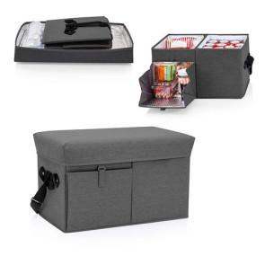 Ottoman Cooler & Seat, (Grey)
