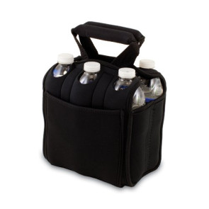 'Six Pack' Beverage Carrier, (Black)