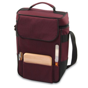 Duet Wine & Cheese Tote, (Burgundy)