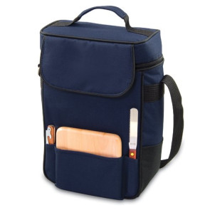 'Duet' Wine & Cheese Tote, (Navy)