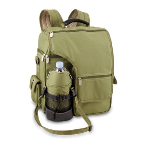 'Turismo' Cooler Backpack, (Olive Green & Tan)
