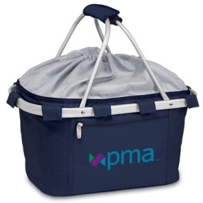 'Metro Basket' Collapsible Cooler Tote, (Navy)