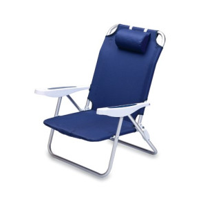 'Monaco' Reclining Beach Backpack Chair, (Navy)