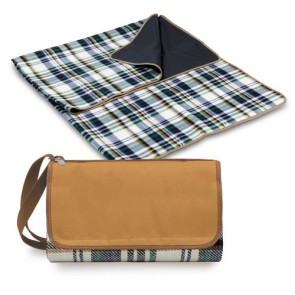 'Blanket Tote' Outdoor Picnic Blanket, (English Plaid & Camel wit