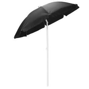 5.5' Portable Beach Umbrella, (Black)