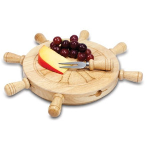 'Mariner' Lazy Susan Cheese Board & Tools Set