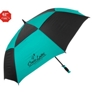The Vented Checkerboard Golf Umbrella