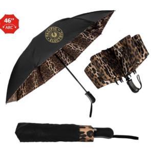The Leopard Inverted Folding Umbrella - Auto-Open, Reverse Auto-C