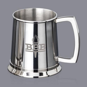 Bowen Beer Tankard - 20oz S/Steel Polished