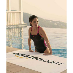 Turkish Signature Midweight White Beach Towel