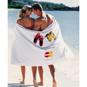 Turkish Signature Ultraweight White Beach Towel
