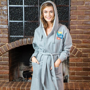 Sweatshirt Hoodie Robe S/M - Embroidered
