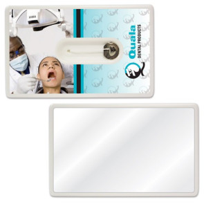 Credit Card Style Dental Floss with Mirror
