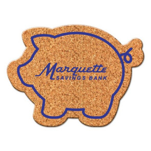 Piggy Bank Cork Coaster