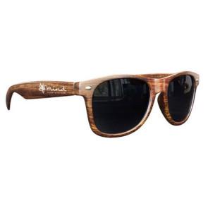 Medium Wood Tone Miam Sunglasses