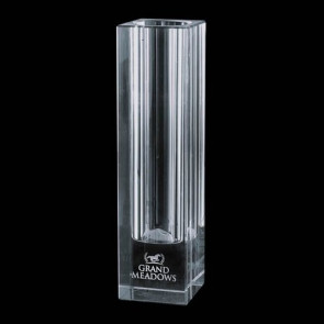 Bellaire Optical Crystal Award Vase - Optical 10 in.