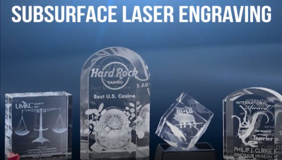 Engraved Crystal Awards - 3D Subsurface Process