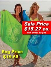 Promotional Logo Color Beach Towel SALE