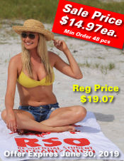 Custom Logo Beach Towel Sale