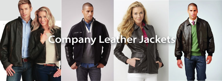 Company Logo Leather Jackets