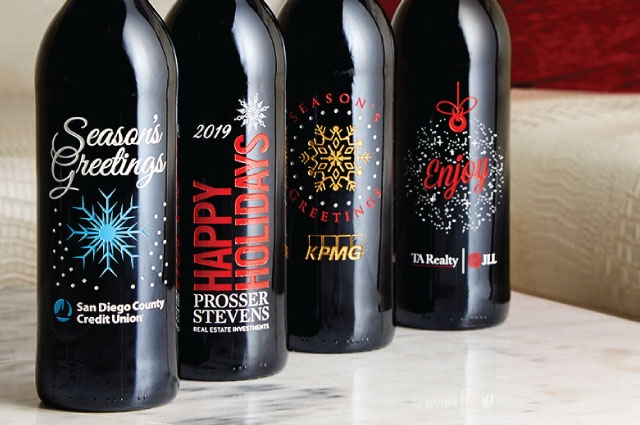 Custom Logo Holiday Wine and Champagne Gifts