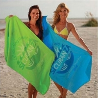 Custom Printed Color Velour Beach Towels