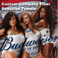 Custom Printed Fiber Reactive Beach Towels