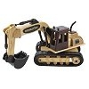 Collectible Wooden Trucks and Construction Equipment with Food