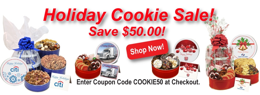 Custom Holiday Cookie Gifts with Your Corporate Logo