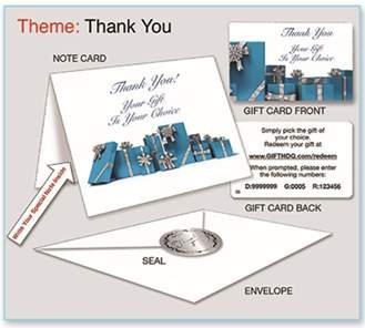 Gift of Choice Cards Spot Recognition