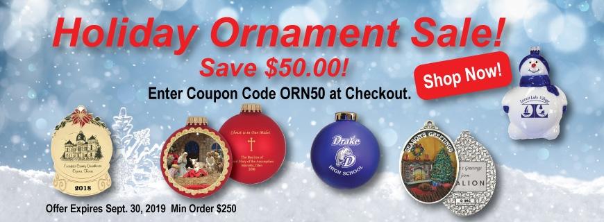 Holiday Custom Ornament Sale 2019