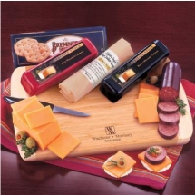 Logo Wisconsin Variety Package Cheddar Cheeses, Summer Sausage, Board