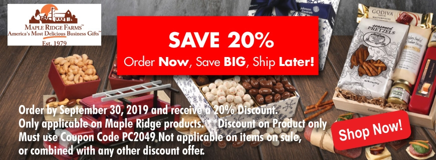 Maple Ridge Farms Holiday Food Gifts 20% Off Sale