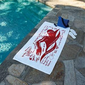 Signature Beach Towel, perfect for graduation gifts for Senior High Students