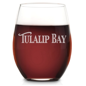 Riedel O Cabernet Stemless Wine Glass engraved with your company logo