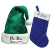 Customized Santa Hats and Custom Logo Imprinted Christmas Stockings